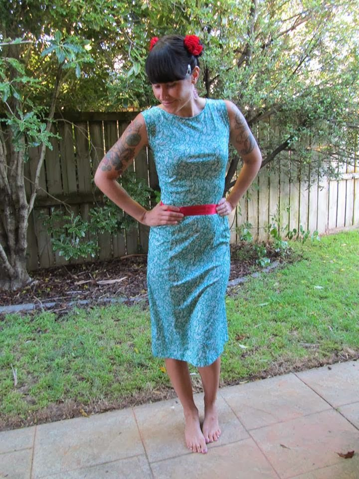 Refashion Co-op: Granny Dress Makeover [March 2014]