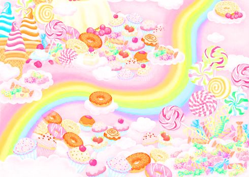#Pastel candy wallpaper.