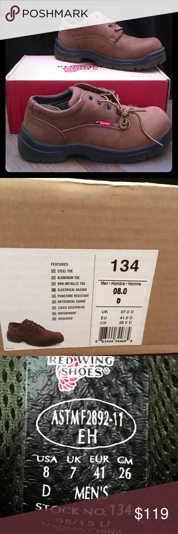 Red Wing Shoes Oxford Size 8 #4479 brown Men's Red Wing Shoes Oxford, Size 8, #4479 in brown. New in box! 🎉 FINAL PRICE 🎉 Red Wing Shoes Shoes Oxfords & Derbys