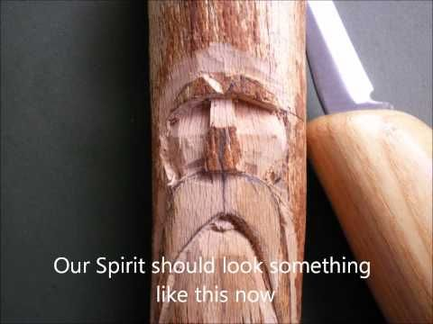 [YouTube Video] Carving a simple wood face.. PARENTAL GUIDANCE REQUIRED