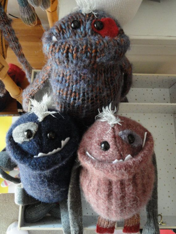 Sweater monsters. OMG these are so cute!!!!