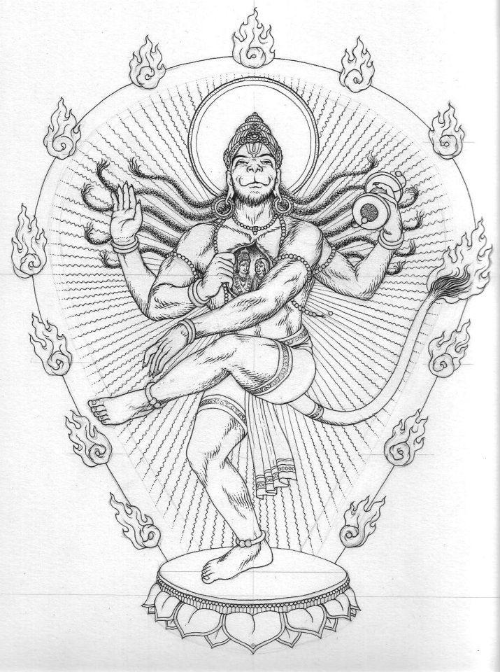 Dancing Hanuman,by Ekabhumi Charles Ellik