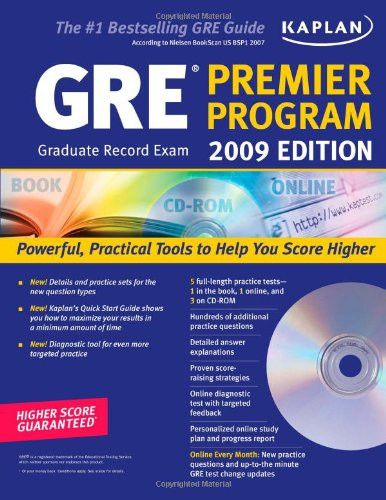 Kaplan GRE Exam 2009 Premier Program (w/ CD-ROM) (Kaplan GRE Premier Program (W/CD))