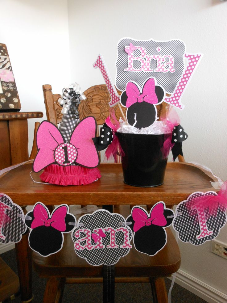 Save 15Minnie Mouse Happy 1st Birthday Sweet by ASweetCelebration, $269.00