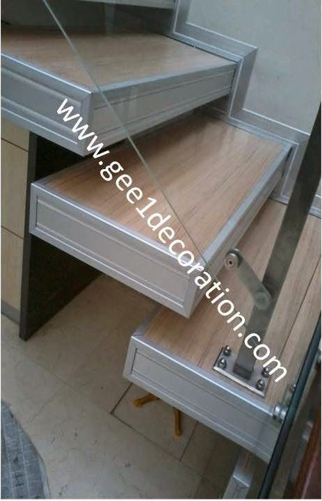 aluminium, kusen, kaca, partisi,  pintu, jendela, lipat, geser, swing, jungkit, pivot, sliding, : gambar produk railing tangga