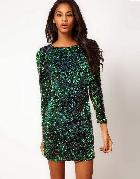63f80f114e2bf8 Groene pailletten jurk