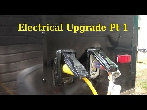 7 x 14 V-Nose Enclosed Trailer / Camper Conversion Pt 2 Electrical - YouTube