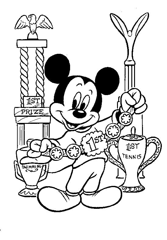 206 best mickey's coloring pages images on pinterest   disney ... - Minnie Mouse Birthday Color Pages