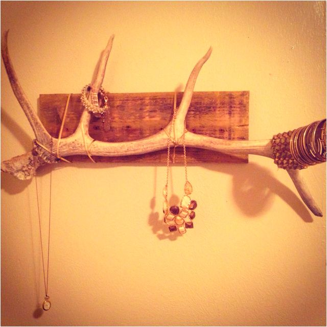 Antler jewelry holder DIY- paint it pink, gold, turquoise