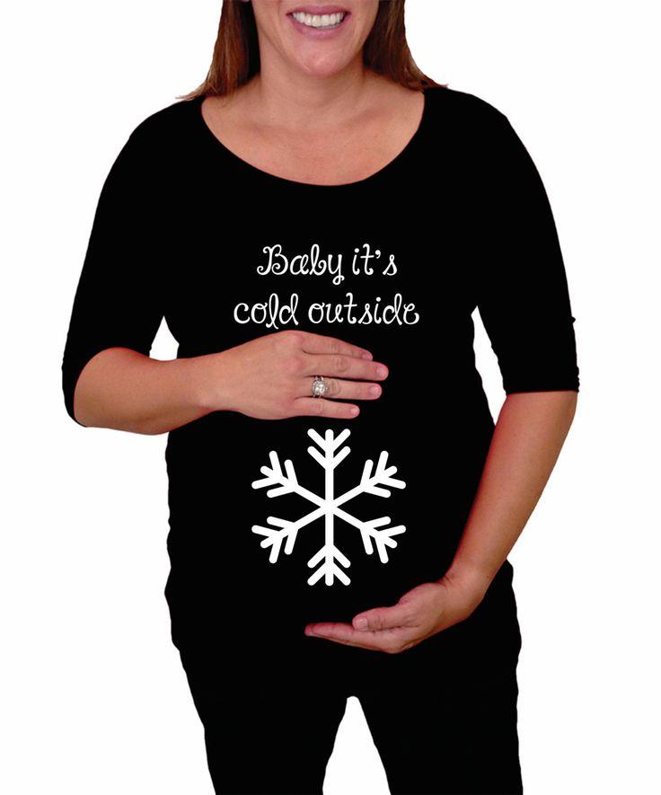 Christmas Winter Maternity Shirt Baby Cold