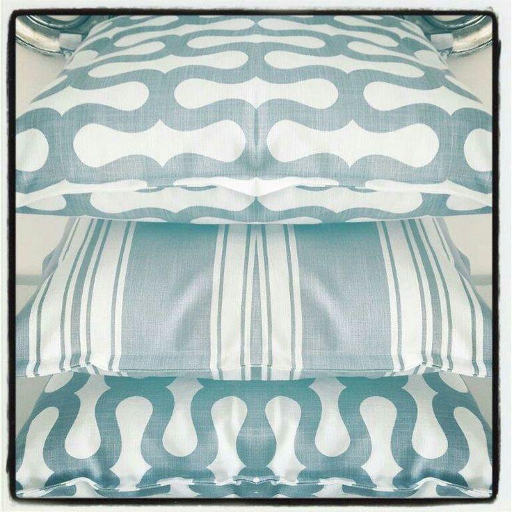 "New Blue Slate colourway in ""Shirley"" geometric print and Stripe designs..."