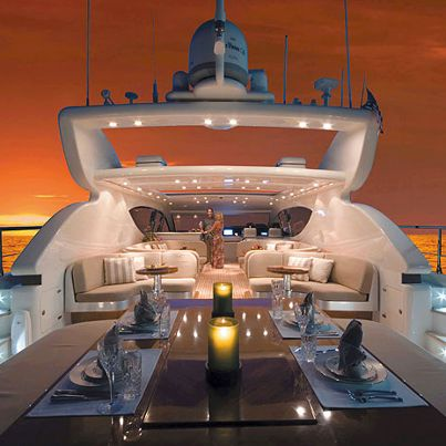How about this luxury yacht for your honeymoon! Image via Chic Luxury.