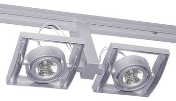 Trac-Master T814 Framed Duo Low Voltage MR16 Track Light, T814sl - modern - Track Heads And Pendants - LBC Lighting