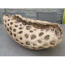 TEEK | Korál XL přírodní, venkovní, umělecká keramika Flaume, 70 cm - Designový zahradní nábytek a slunečníky