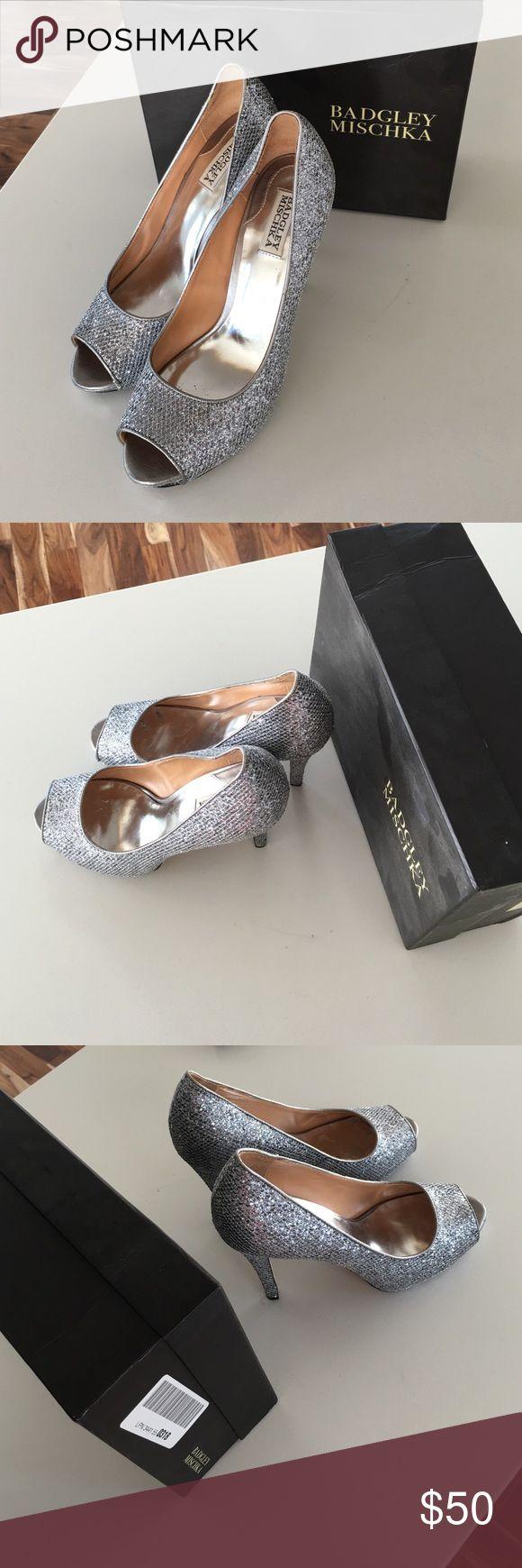 100% Authentic Bagley Mischka sparkly 4 in heels 100% Authentic Bagley Mischka sparkly 4 in heels, like new, worn once, GREAT condition Bagley Mischka Shoes Heels