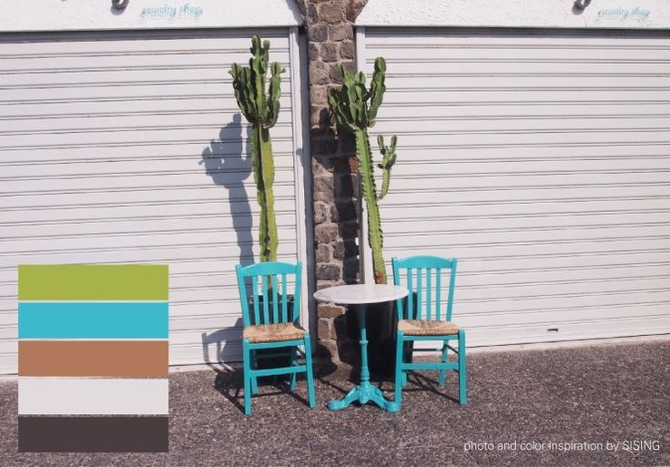 [color inspiration & photo by SISING] vivid, bright, cheerful, beach, summer