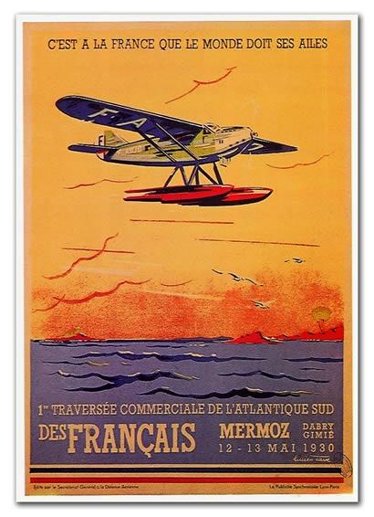 12 mai 1930 : Jean Mermoz relie d'un trait Saint-Louis à Natal au terme d'un vol de 21 heures et 10 minutes.