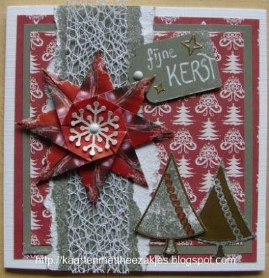 KAARTEN met theezakjes: Kerstbomen