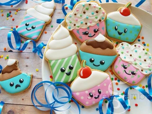 Galletas cookies cupcakes decoration royal icing glaseado cut out