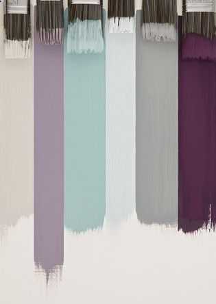 The lavendar, pale green and light blue/grey are the perfect combo for my new room.
