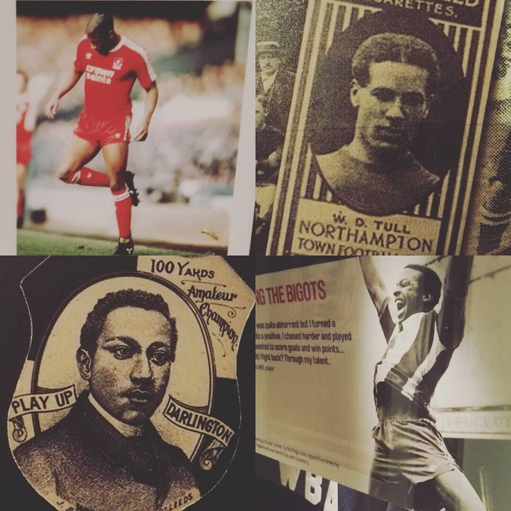 Plenty of #blackbritishhero nominees in the museum galleries @bbcsport. Goalkeeper world record sprinter and the world's first black professional sportsman Arthur Wharton? #Spurs & #Northampton player turned British Army Officer and victim of #WWI Walter Tull? #WBAFC stalwart and #FACup winner with Coventry Cyrille Regis and @england & @Liverpoolfc winger John Barnes. #bbcsportsday #museums #football