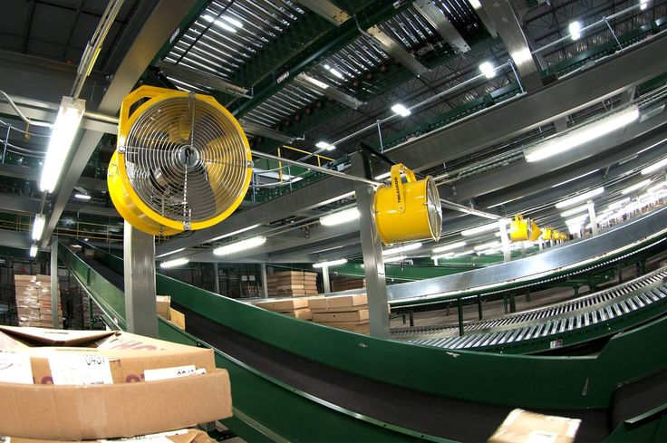 Pivoting Wall Fans Fix Kohl's® Distribution Center Airflow | Big Ass in Manufacturing | Pinterest | Kohls, Big and Fan