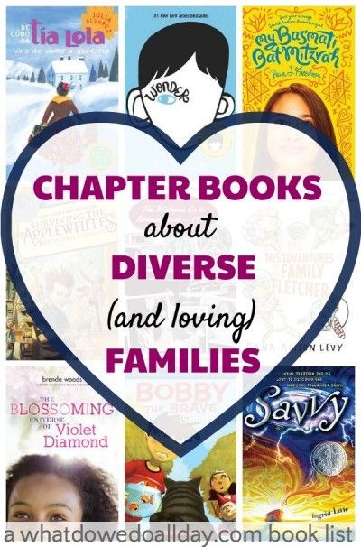 12 chapter books about diverse families for kids.