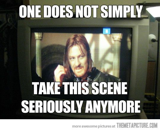 Watching Lord of the Rings after the Internet…