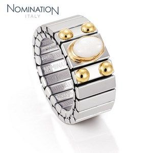 Bague Nomination Collection Extension Medium avec Nacre Blanc