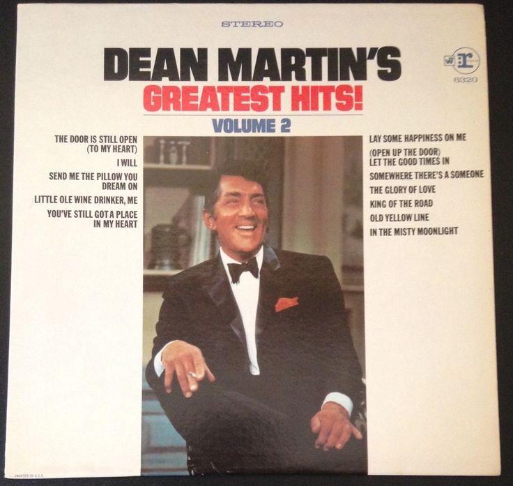 Dean Martin Dean Martin's Greatest Hits Volume 2 Reprise Records 1968 Vinyl Lp