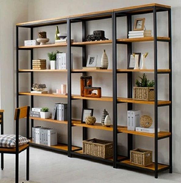 Vintage Wrought Iron separators do the old wood bookcase Ikea shelving  creative custom display shelves. Best 25  Display shelves ideas on Pinterest   Shelving ideas