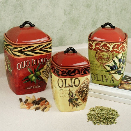 Italian Canisters Kitchen | 167 Best Canister Sets Images On Pinterest Drawings Kitchen