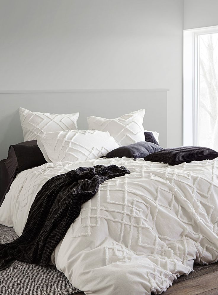 chenille embroidery duvet cover set