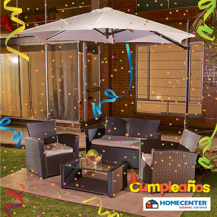 Renueva tu terraza con muebles para exteriores a precios bajos, aprovecha el #CumpleañosHomecenter