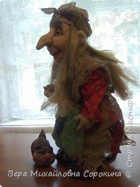 Интерьер Куклы Оберег Шитьё интерьерная кукла Баба Яга Капрон Ткань фото 1