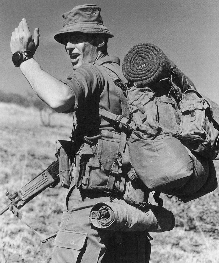 "georgy-konstantinovich-zhukov: "" A South African infantryman during the Border War, in the 1980s. By the end of the '80s, South Africa had been involved in combating SWAPO and its aliies for two whole..."
