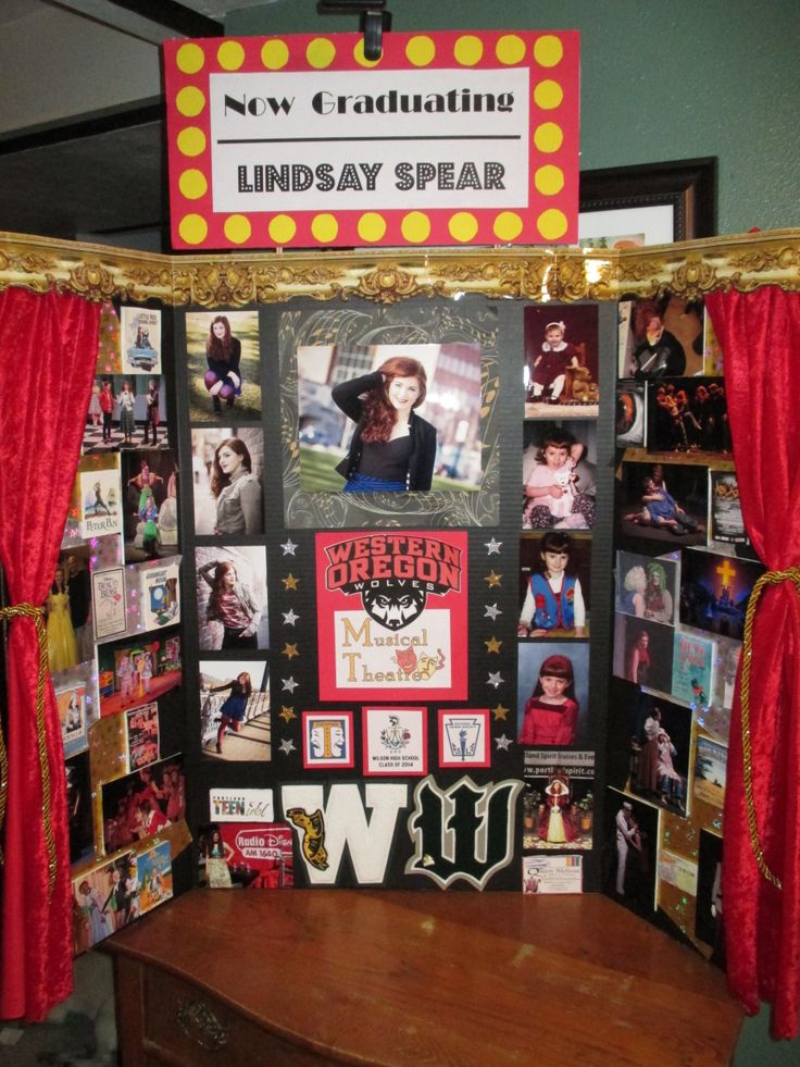 Here is a theatre themed display board I made for my daughter's high school graduation.