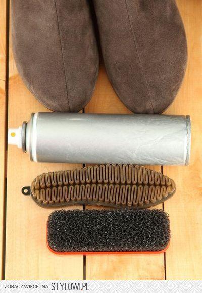 Zabrudzenia na zamszowym obuwiu są zmorą wielu kobiet.… na Stylowi.pl