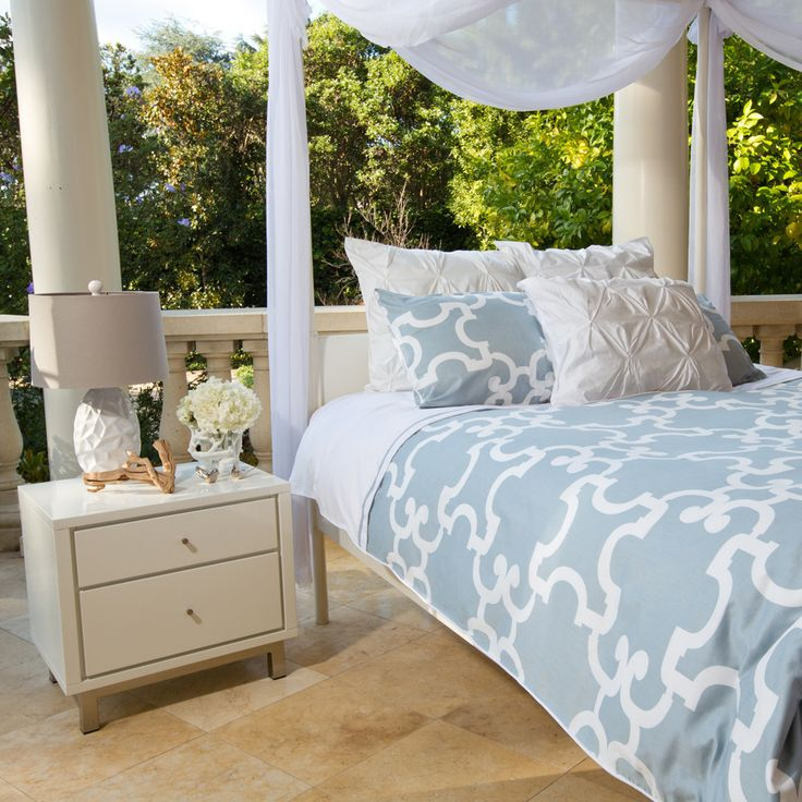 Great site for designer bedding!  Beautiful Noe Blue Duvet Cover by Crane and Canopy.