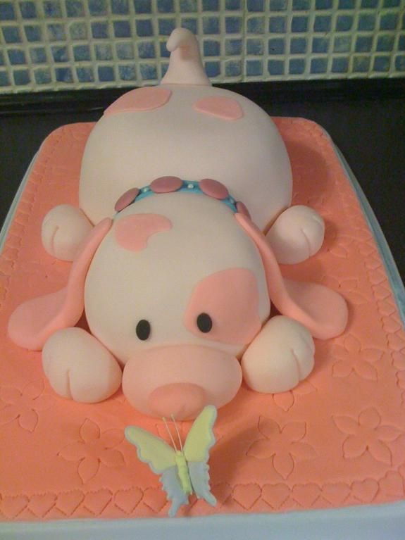 Food Craft: Pink Puppy Cake