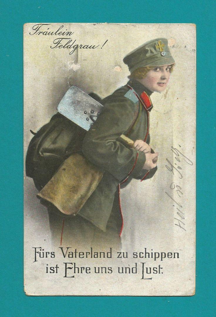 Postfeldkarte--Fräulein Feldgrau!--Atal-29.2.1919-nach Selben--