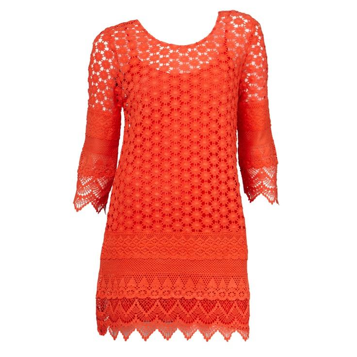 Crochet Lace Dress #sportsgirl