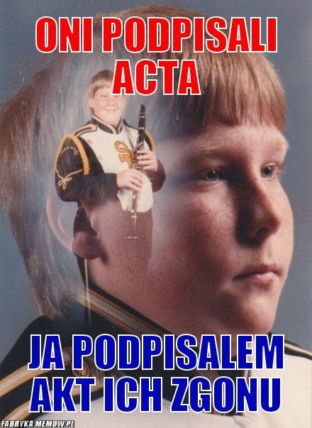 Klarnecista przeciwko ACTA