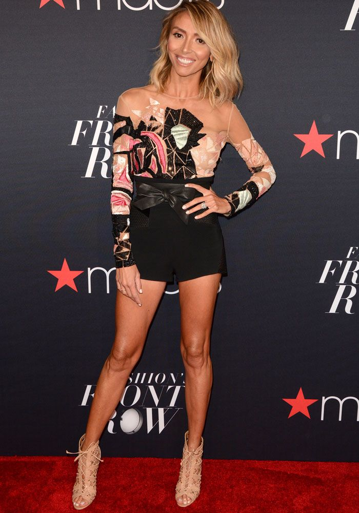 Giuliana showed off her svelte physique in a Nicolas Jebran playsuit