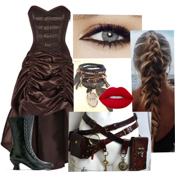 Stempunk #1 by becfinck on Polyvore featuring Lime Crime