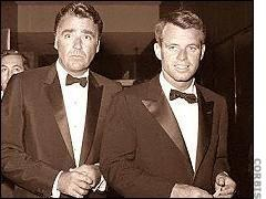 Peter Lawford and brother-in-law, Bobby.