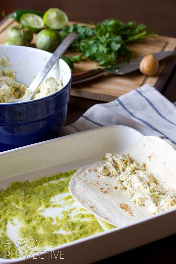 How to Make Enchilada Recipe with Salsa Verde, Chicken and Cheese # ...