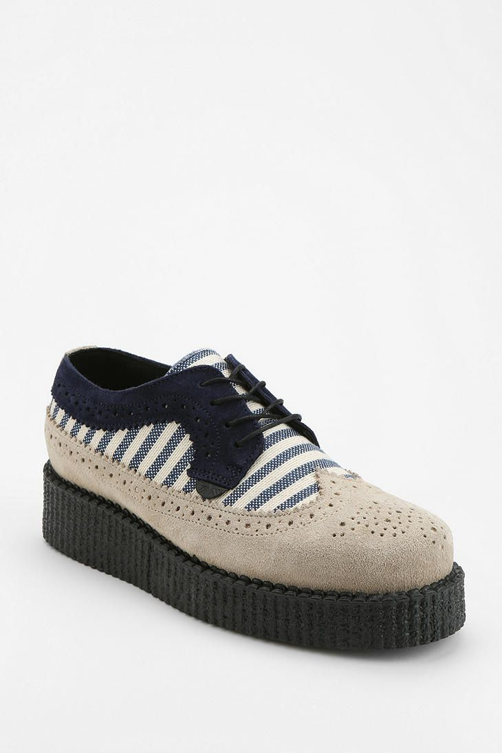 Shop Underground Striped Brogue Creeper at Urban Outfitters today.