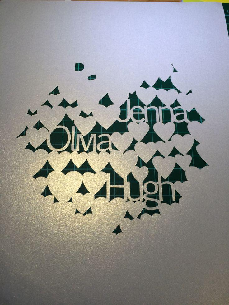 Progress shot - Papercut by Dala Designs