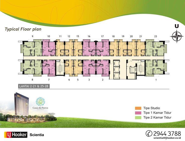 2nd - 21st FLOOR & 25th - 28th FLOOR - MAGNOLIA Tower @ Casa de Parco Apartment, BSD City